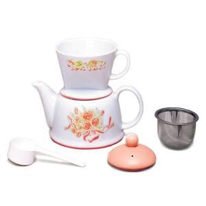 カリタ・ツーウェイ ドリップセット・フラワー・陶器製(2〜4人用)|paocoffee