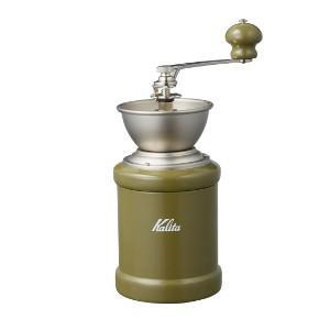 カリタ 手挽き コーヒーミル KH-3C(アーミィグリーン)手動式|paocoffee