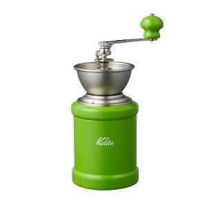 カリタ 手挽き コーヒーミル KH-3C(グリーン)手動式|paocoffee