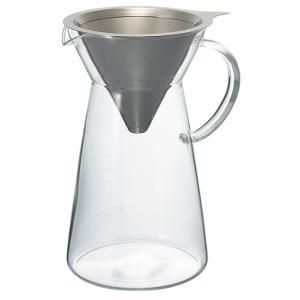 ハリオ メタルドリップデカンタ MDD-02SV(ペーパー不要) 1〜4杯用|paocoffee