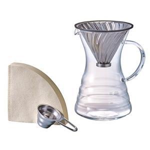 ハリオ ポアオーバーデカンタ VPD-02HSV(ドリップデカンタ) 1〜4杯用|paocoffee