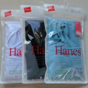 Hanes ヘインズ フィットキャミソール 3枚セット HW2-202 【L】1415う C/# 318 ミント 090 ブラック 010 ホワイト|paostore