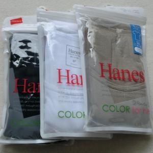 HanesクルーネックTシャツ3枚セット HW1-101 【LL】 1417あ (090)ブラック (010)ホワイト (856)アッシュ|paostore