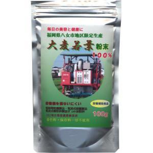 国産大麦若葉粉末 100g papamama