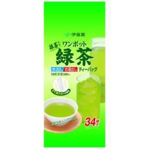 伊藤園 抹茶入り ワンポット緑茶 ティーバッグ 34袋 papamama