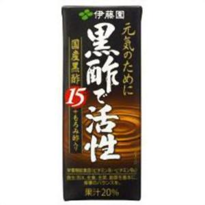 【ケース販売】黒酢で活性 200ml×24本 papamama
