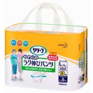 リリーフ 抗菌消臭やわらかラク伸びパンツ L-LLサイズ 13枚(大人用紙おむつ パンツ型)|papamama