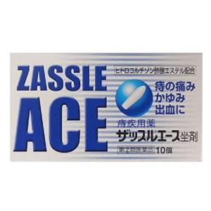 ザッスルエース坐剤 10個 定形外郵便 【指定第2類医薬品】