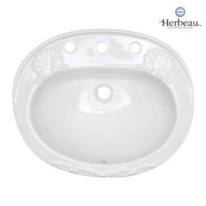 Herbeau/エルボ0406.20 シャルロット Charlotte 埋め込み型 洗面ボウル おしゃれ 洗面 手洗い|papasalada