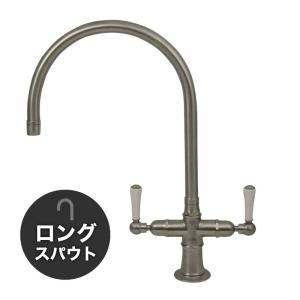 輸入蛇口 キッチン用 混合栓 1021UK-W52 ステンレス・モノ・ミキサー(ロング) |ステンレス水栓金具 fusion|papasalada