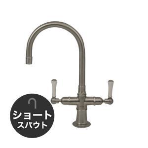 輸入蛇口 混合水栓 1041UK-W52 ステンレス・モノ・ミキサー(ショート) |ステンレス水栓金具 fusion|papasalada