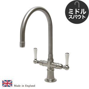 輸入蛇口 キッチン用 混合栓 1221UK-W52 ステンレス・モノ・ミキサー(ミドル)|ステンレス水栓金具 fusion|papasalada