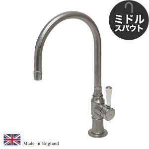 ステンレス キッチン用 混合栓 1271UK-WC52 ステンレス・シングルレバーミキサー(ミドル)|ステンレス水栓金具 fusion|papasalada