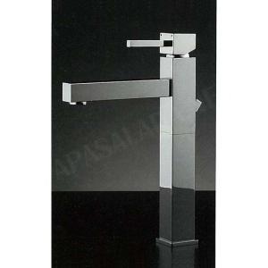混合栓 RASATO Hi tall / スクエアレバー混合水栓(Hiトールタイプ・ポップアップ対応型) デザイナーズ洗面所蛇口|papasalada