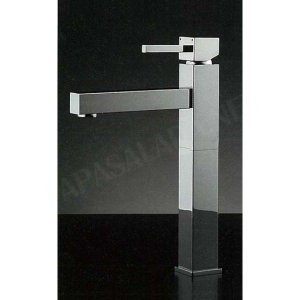 混合栓 RASATO Hi tall / スクエアレバーHiトール混合水栓 デザイナーズ洗面所蛇口|papasalada
