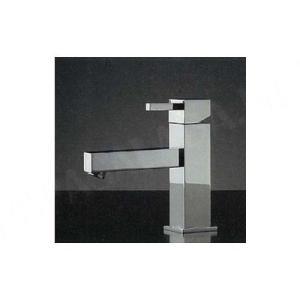 混合栓 RASATO/ スクエアレバー混合栓(ショートレバー) デザイナーズ洗面所蛇口|papasalada