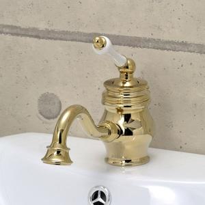 1PLAG 混合栓 洗面所用 JODEN アレキサンダーシングルレバーCL(ブラス) レトロクラシック調 ジョーデン水栓金具|papasalada