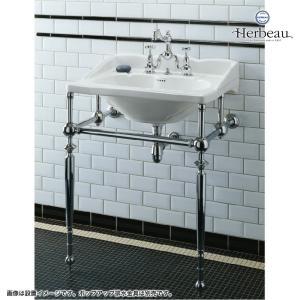Herbeau/エルボ3003 Royale(ロワイヤル/ブライトニッケル)2ホール混合栓  おしゃれ クロスハンドル 蛇口 洗面 手洗い|papasalada|04