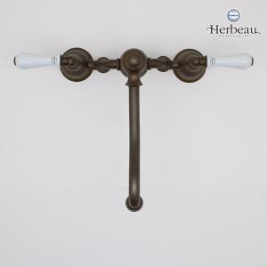 Herbeau/エルボ3022 Royale(ロワイヤル/オールドブラス)2ホール混合栓 おしゃれ レバーハンドル 蛇口 キッチン papasalada 03