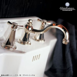 Herbeau/エルボ3602 Monarque(モナーク/ブライトニッケル)8インチ混合栓  おしゃれ クロスハンドル 蛇口 洗面 手洗い|papasalada|05