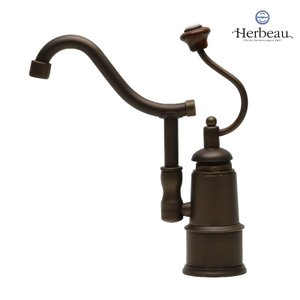Herbeau/エルボ4101 De Dion(ディオン/オールドブラス)シングルレバー混合栓 おしゃれ 蛇口 キッチン 洗面所 papasalada