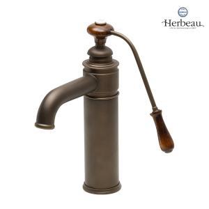 Herbeau/エルボ4103 Estelle(エステル/オールドブラス)シングルレバー混合栓 おしゃれ 蛇口 キッチン 洗面所 papasalada