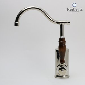 Herbeau/エルボ4105 Flamande(フラマンド/ブライトニッケル)シングルレバー混合栓 おしゃれ 蛇口 キッチン 洗面所|papasalada|02
