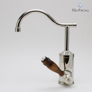 Herbeau/エルボ4105 Flamande(フラマンド/ブライトニッケル)シングルレバー混合栓 おしゃれ 蛇口 キッチン 洗面所|papasalada|03