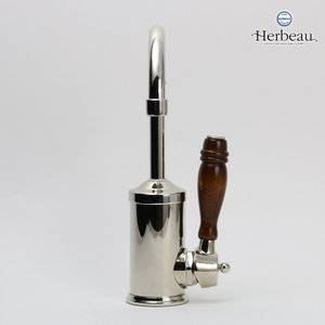 Herbeau/エルボ4105 Flamande(フラマンド/ブライトニッケル)シングルレバー混合栓 おしゃれ 蛇口 キッチン 洗面所|papasalada|04