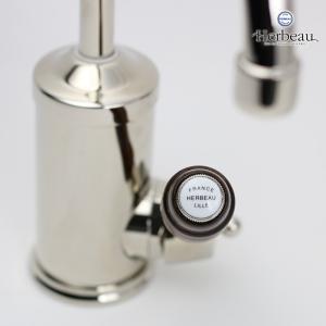 Herbeau/エルボ4105 Flamande(フラマンド/ブライトニッケル)シングルレバー混合栓 おしゃれ 蛇口 キッチン 洗面所|papasalada|05