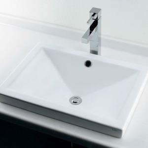 洗面ボール 角型半埋洗面器 国産メーカー洗面ボウル 洗面台 シンク|papasalada