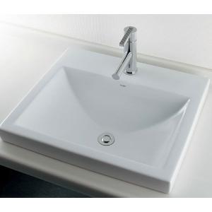 洗面ボール 角型半埋洗面器A(水栓直付けタイプ) 国産メーカー洗面ボウル|papasalada