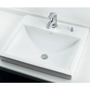 角型半埋洗面器A(水栓直付・カウンターポップアップ付)|papasalada