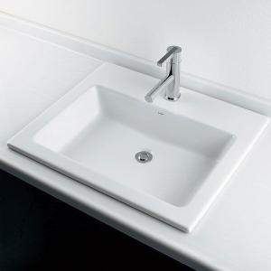 角型半埋洗面器B(水栓直付タイプ) 国産メーカー洗面ボール|papasalada