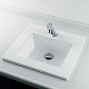 角型 半埋 洗面器C(水栓直付タイプ) デザイン 洗面ボール|papasalada