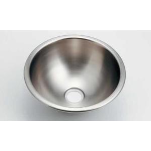 ステンレス丸型手洗器(ヘアライン仕上げ) トイレなどの省スペースに合う小型手洗い鉢|papasalada
