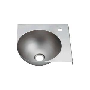 ステンレスボウル一体型コーナーカウンター(ブレスト仕上げ) トイレなどの省スペースに合う小型手洗い器|papasalada