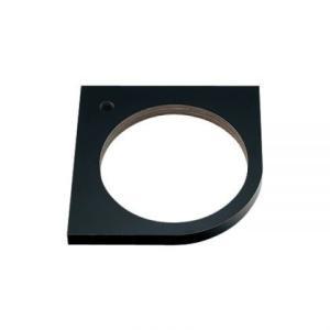 埋込手洗器用コーナーカウンター(ブラック) BLACK おしゃれ コンパクトな黒の天板|papasalada