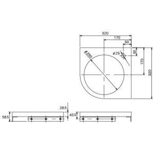 埋込手洗器用コーナーカウンター(ホワイト) WHITE おしゃれ コンパクトな白の天板|papasalada|05