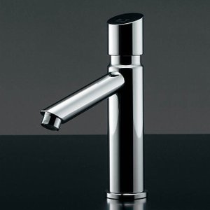手洗用単水栓(自動止水機能付 ) 自閉立水栓 沃/よく (クロム) 節水蛇口|papasalada