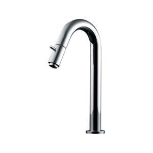 単水栓 手洗用 おしゃれ蛇口 チップハンドル トール立水栓 洗面所用立水栓/単水栓|papasalada
