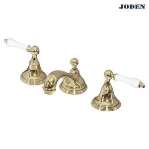 8PLVG 洗面用混合栓 JODEN輸入蛇口 セパレートレバーCL(ブラス) レトロクラシック調 ジョーデン水栓金具|papasalada