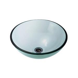 A-105 ガラス洗面ボウル ガラス製 手洗器 AQUA クリアー(Mサイズ) おしゃれ ガラスボウル|papasalada