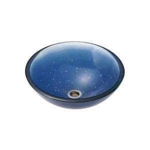 A-117 ガラス洗面ボウル ガラス製 手洗器 AQUA 星空(Sサイズ) おしゃれ ガラスボウル|papasalada
