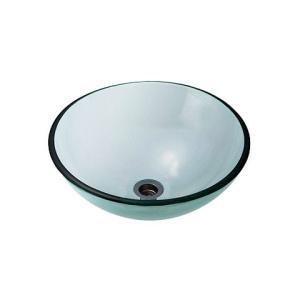 A-123 ガラス洗面ボウル ガラス製 手洗器 AQUA クリアー(Sサイズ) おしゃれ ガラスボウル|papasalada