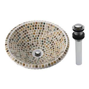 A-215CP タイル 手洗い器 おしゃれ 洗面ボウル オリジン ヴェルデ(Lサイズ・プッシュ式クロム) 美濃焼 手洗器|papasalada