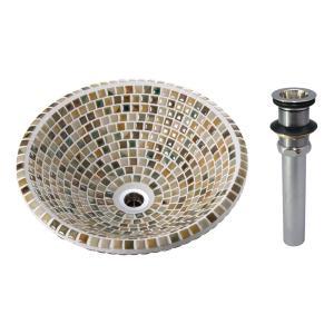 A-219 美濃焼 磁器製タイル洗面ボウル オリジン ヴェルデ(Sサイズ・排水金具付) トイレ 洗面所 おしゃれ 手洗器|papasalada