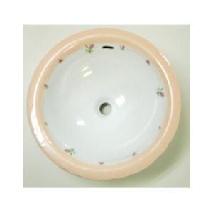 AFR-0400 おしゃれ 洗面器 洗面ボウル プラン・ド・パリ フランシーヌローズ ラウンドL papasalada