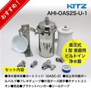 浄水器 KITZ/キッツ オアシックス アンダーシンク流し台下分岐型 オリジナル浄水器セット AHI-OAS2S-U-1 浄水 キッチン 台所 水栓|papasalada