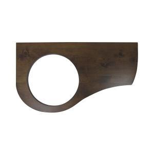 AHICO003 おしゃれ 洗面ボウル 手洗器 Essence Mラウンド手洗鉢専用カウンター(ローズウッド)|papasalada